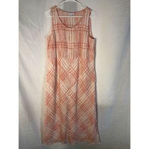 J Jill Love Linen Medium Maxi Dress Peach 1282